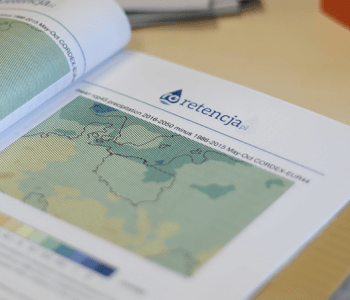 Retencja.plRetencja.pl – Zrealizowane projekty Model prognozowanych opadów deszczu do 2050 roku w Rumi
